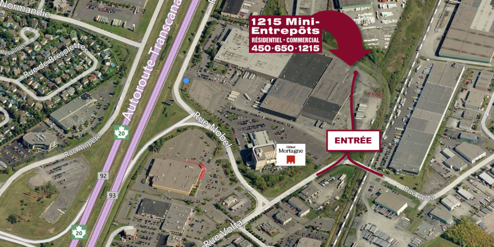 1215 mini-entrepôts | QUICK & EASY ACCESS TO YOUR SELF-STORAGE